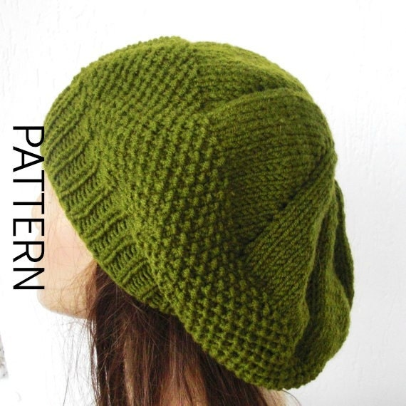 Instant Download Knitting Pattern Pdf Diy Knit Hat Pattern Digital