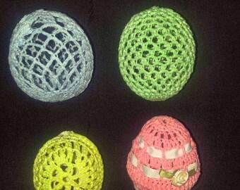Hand crocheted easter eggs. Set of 4