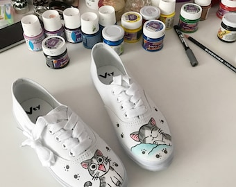 Kitty sneakers - Hand painted