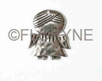 Silver plated pendant: Angel