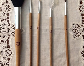 Etienne Aigner vintage makeup brushes