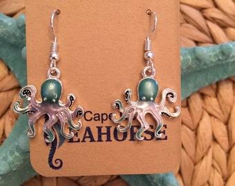 Octopus Earrings,Coastal,Sealife,Jewlery