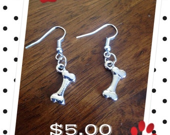 Dog Bone Earrings