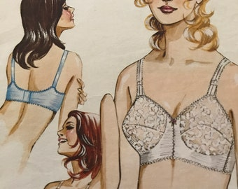 Vintage Bra Pattern---Kwik Sew 230---Sizes 38A, 38B, 38C, and 38D