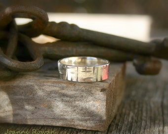 Birch Bark Ring... Wedding Band, Promise Ring, Hand Fasting