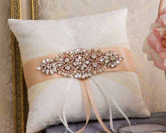 Rose Gold Ring Inhaberaktien Kissen Rose Gold Ringkissen