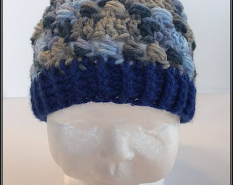 Crocheted Basic Beanie hat!!!  Ready to Ship!