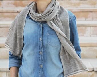Beige scarf, narrow cashmere scarf, unisex scarf, scarf cashmere, long scarf, soft scarf, warm scarf, mens scarf, female scarf, narrow scarf