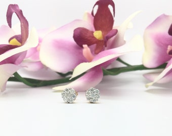 0.51CTW Diamonds Cluster/Flower Earrings in 14K Yellow Gold