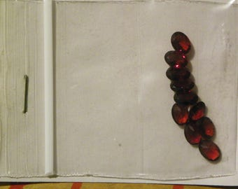 Fine Red Garnets 10 Of 5x7 MM. Oval Faceted