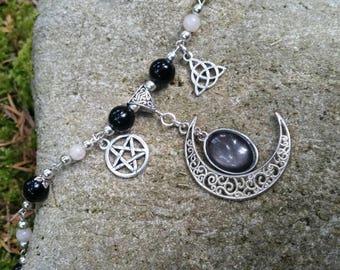 """Long """"selene Moon"""" necklace"""
