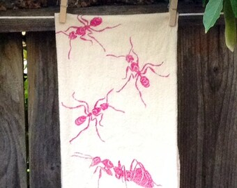 Trail of Ants Flour Sack Tea Towel