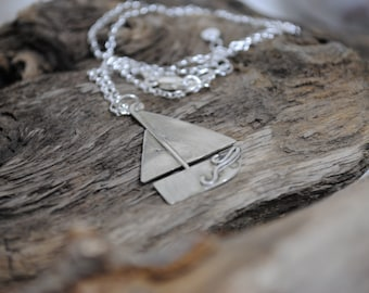 Sterling Silver Boat Necklace