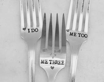 Wedding forks, i do, me too, me three.