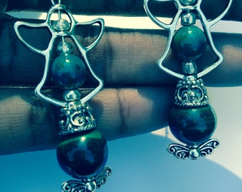 ArchAngel Raphael: Wings of Healing Change Chrysoprase and Malachite