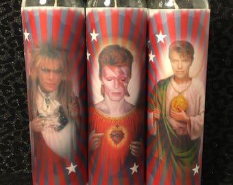 David Bowie Saints Candle Set