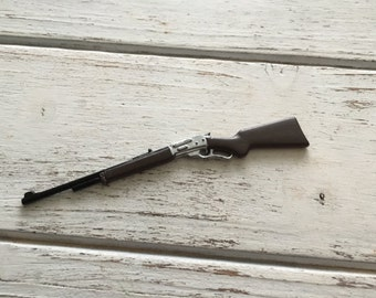 Miniature Metal Rifle, Dollhouse Miniature, Accessory, Decor Item, Mini Gun, Hunting Rifle