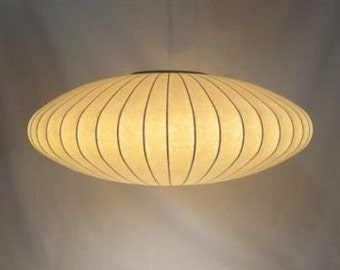 Mid Century Modern Era, George Nelson for Howard Miller, Original Hanging Saucer Bubble Light, ca 1950s