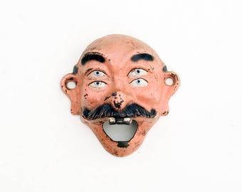 Original Wilton Four Eyed Buck Teeth Mustache Guy Cast Bottle Opener Vintage Retro