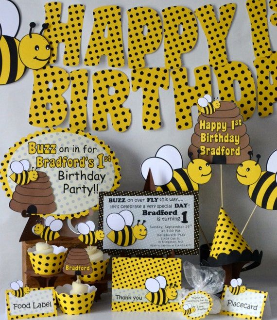 Bumble bee birthday party thank you card bumble bee baby bumble bee birthday party thank you card bumble bee baby shower honey bee party decorations bug theme birthday filmwisefo Images