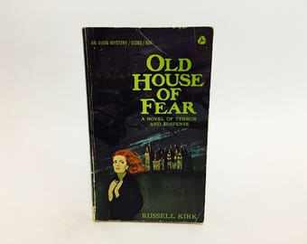 Vintage Gothic Romance Book Old House of Fear by Russell Kirk 1965 Paperback