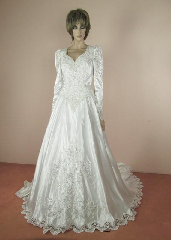 Weiße Brautkleid 80er Jahre Vintage Brautkleid aus der