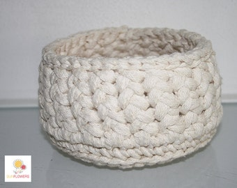 Round basket, Crochet Bowl gift idea