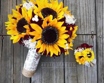 Rustic bouquet sunflower bouquet rustic wedding bouquet
