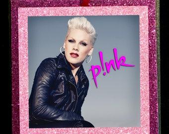 P!NK (PINK) Glitter Ornament - Free Shipping!