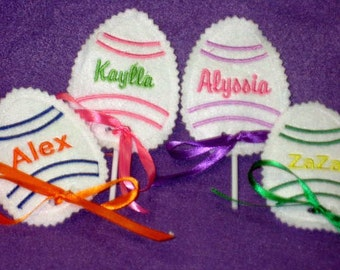 Personalized Easter Egg sucker covers - Easter basket filler - Easter treat - Easter decoration - Classroom give away - sunday school  -