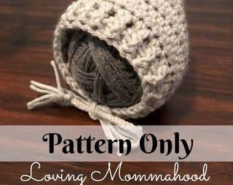 Baby Bonnet Pattern - Pixie Hat Pattern - Bonnet Pattern - Baby Hat Pattern - Pixie Bonnet - Baby Pattern - Crochet Hat Pattern