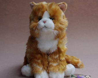 Tabby Cat Stuffed Animal Plush Toy