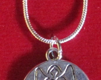 925 Sterling Silver Necklace with Guardian Angel for Happiness Pendant