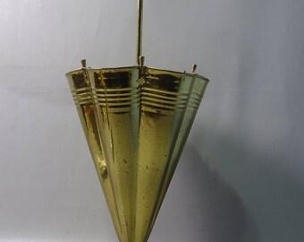 Yellow copper Umbrella-70s/80s