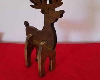 Holiday Decoration Ornament Reindeer Christmas Table Shelf