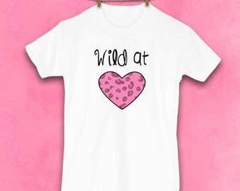 Valentines Day, Leopard Shirt, Wild Thing, Leopard print, Animal print, Little girl clothes, Cute Kids Clothes, Kids Clothes, Toddler shirt