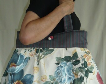Reversible bag Sabine printed cotton