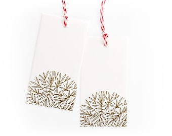 Gold Gift Tags // Set of 8 // Holiday Gift Tags // Christmas Gift Tags // Letterpress Gift Tags // Handmade // Letterpressed // Gift Labels