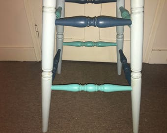 Pink and blue high stool