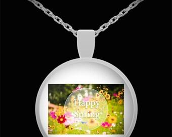 Happy spring necklace