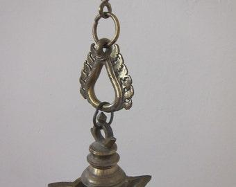 Antique Brass Hanging Incense Holder