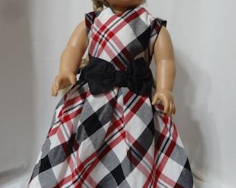 Sleeveless dress for 18 inch dolls