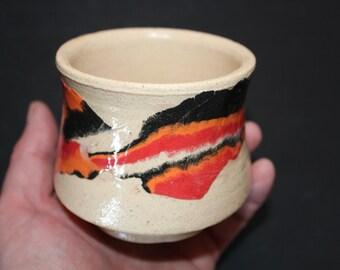 Ceramic tea cup Mokume gane 60