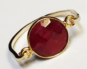 Ruby Ring, Ruby Gemstone Ring, July Birthstone, Ruby Jewelry, 14K Gold Filled Ring, Gold Jewelry, Ruby Silver Ring, Silver Ring. Red Ring