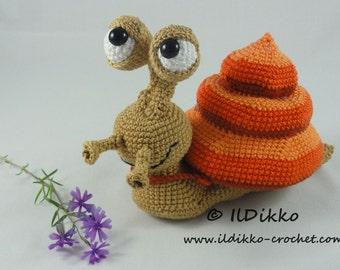 Amigurumi Crochet Pattern - Sydney the Snail - English Version