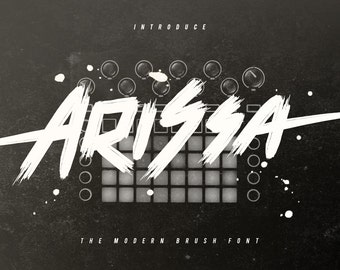 Arissa Typeface Modern Brush Font Download