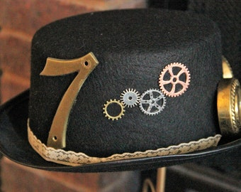 Steampunk Top Hat - Upcycled/Found Elements