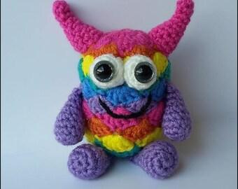 Crochet Pattern - Little Rainbow Monster