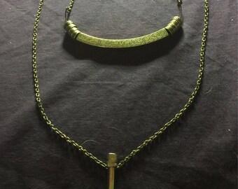 Brass Lariat Necklace