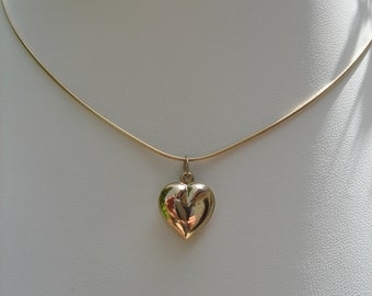 Gold filled chain, simple and romantic with heart